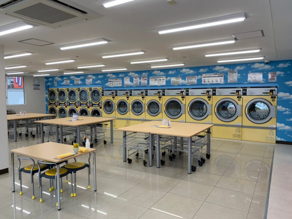 静岡県伊東市吉田ひまわりランドリー乾燥機