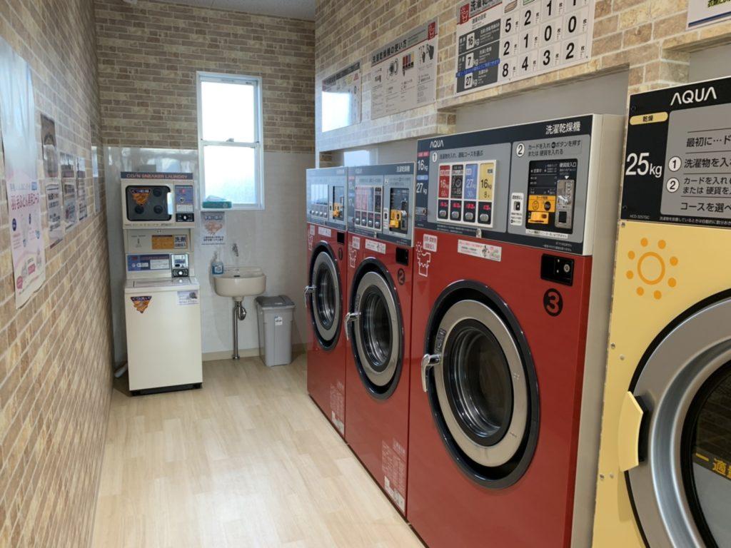 コインランドリーThree洗濯乾燥機