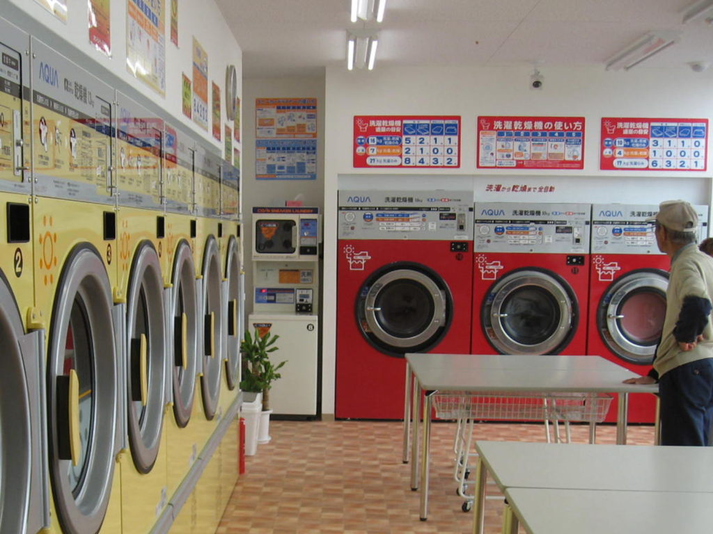 コインランドリー SUNS洗濯乾燥コーナー