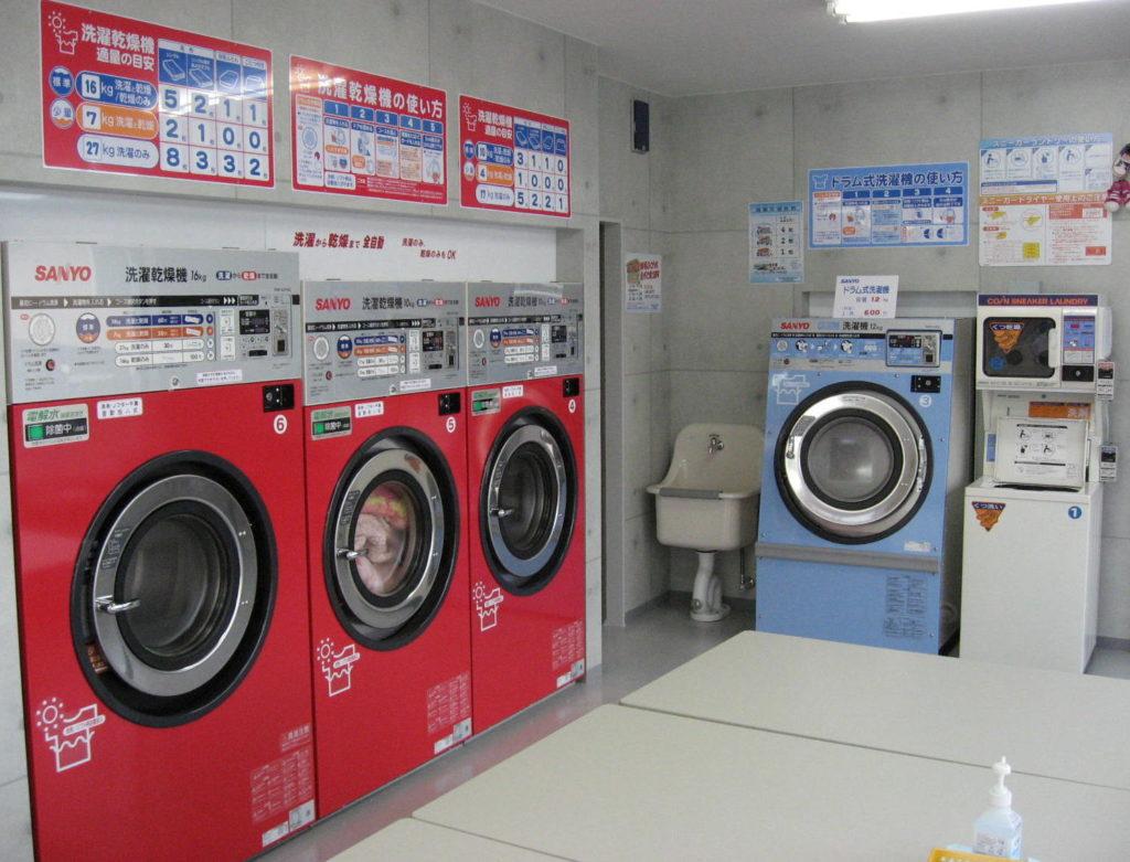 コインランドリーふわふわ  岡重   城北店 洗濯コーナー
