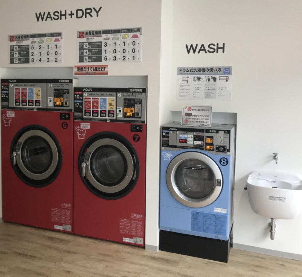 コインランドリーD&D 金山店 洗濯コーナー