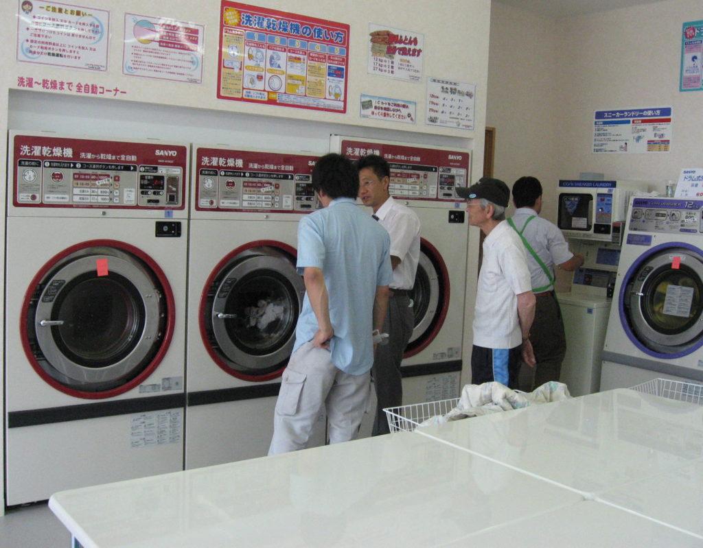 コインランドリー  しゃわしゃわ 洗濯乾燥機