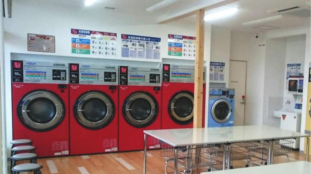 コインランドリーもこもこ 洗濯コーナー