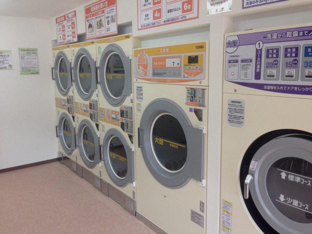 コインランドリー伊豆高原のゆ 乾燥機
