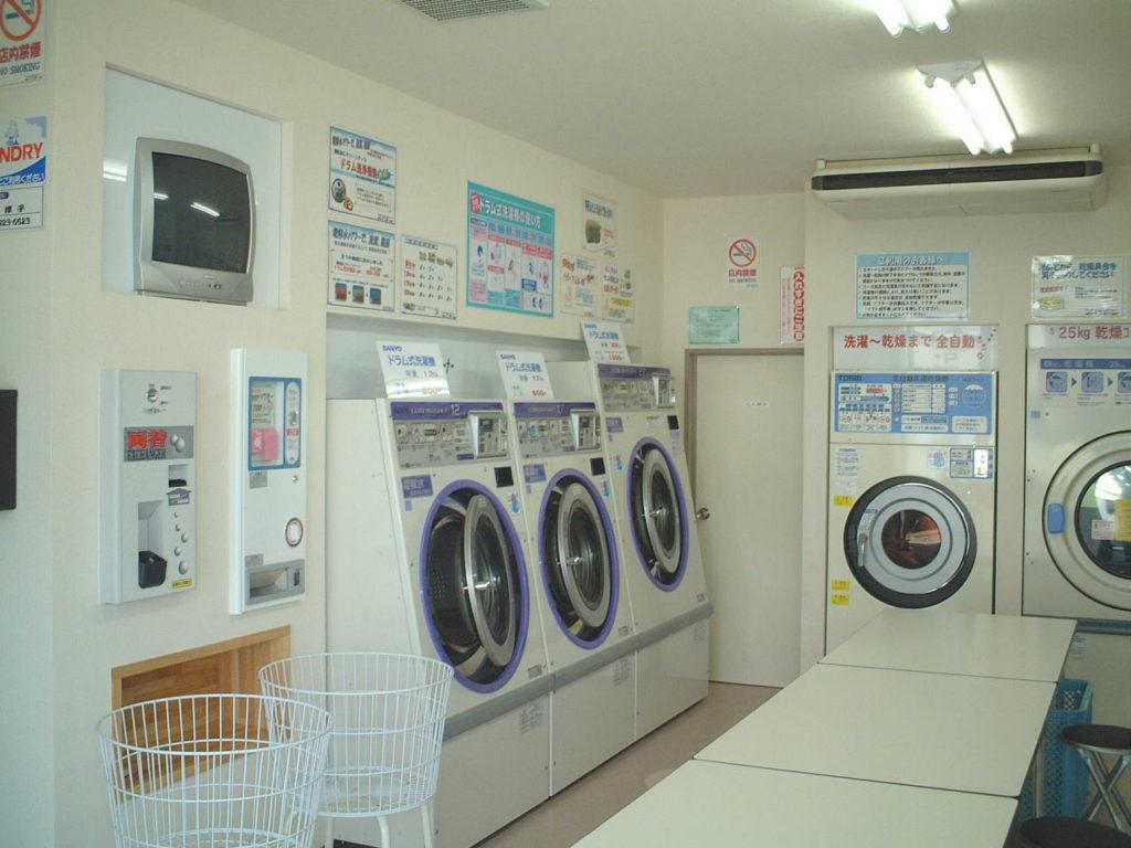 コインランドリーレインボー 洗濯コーナー
