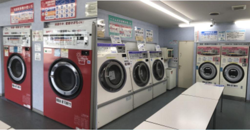 コインランドリーサカエ 洗濯コーナー