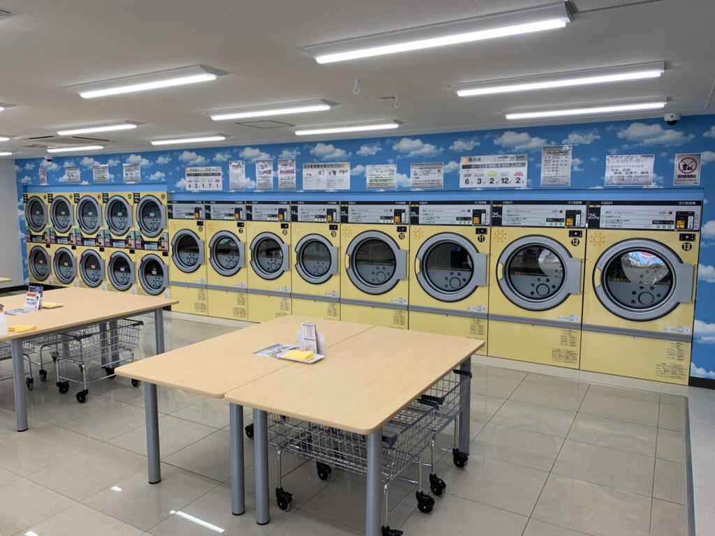伊東市ひまわりコインランドリー 乾燥機